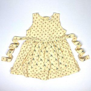 Vintage Gap Sleeveless Yellow Floral Dress XL